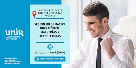 Sesión Informativa UNIR México CDMX Polanco tickets