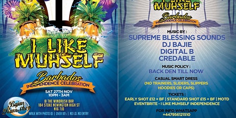 I Like Muhself Barbados Independence Celebration tickets