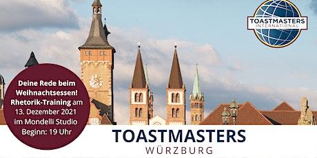 Die perfekte Rede für den Jahresabschluss trainieren bei den Toastmasters Tickets