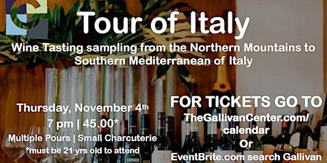 Wine Night November  - Tour of Italy tickets