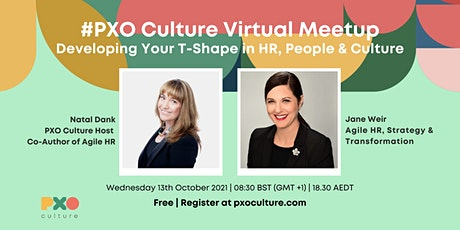 Developing your T-shape in HR, People, Change and Culture tickets