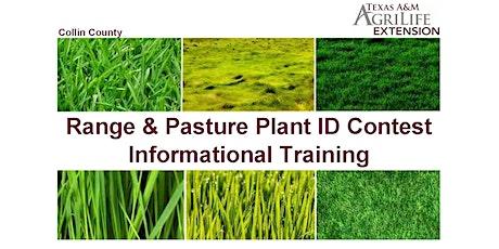 Range & Pasture Plant ID Contest Informational Training tickets