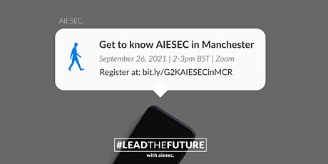 Get To Know AIESEC in Manchester (online) tickets
