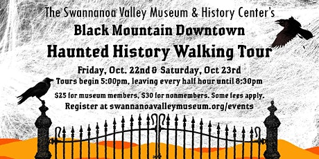 Downtown Black Mountain Haunted History Walking Tours tickets