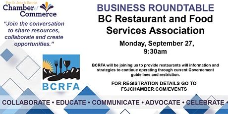 BC Restaurant and Food Services Association tickets