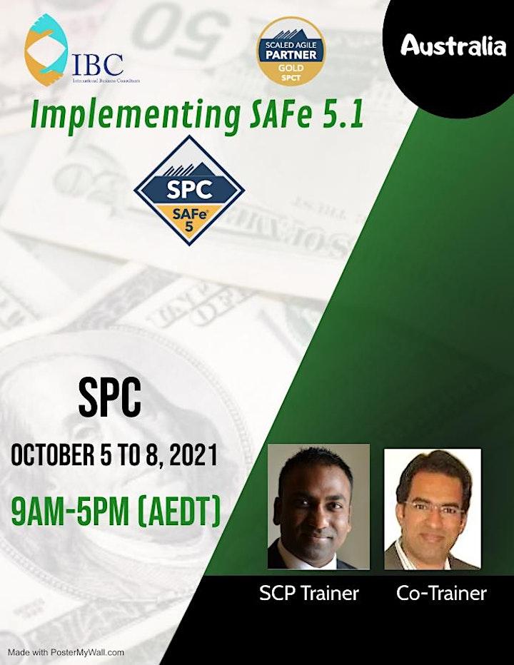 (SPC) : Implementing SAFe 5.1 -Remote class -Australia image