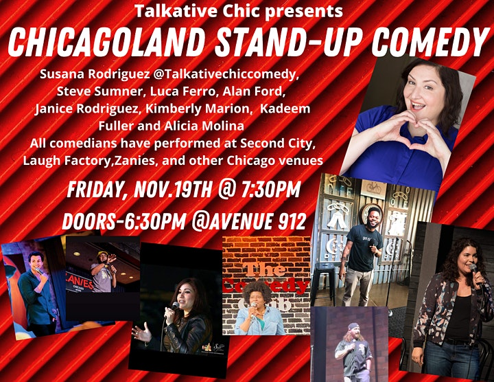 Talkative Chic Presents - CHICAGOLAND STAND - UP COMEDY image