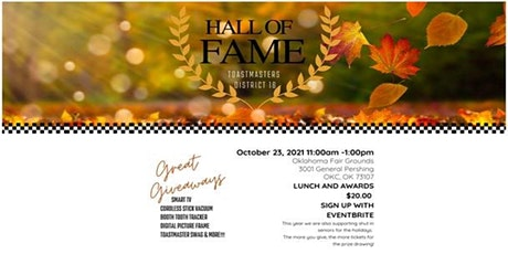 Hall of Fame - Toastmasters District 16 Event tickets