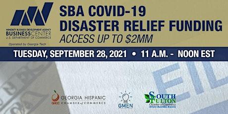 SBA Emergency Injury Disaster Loan tickets