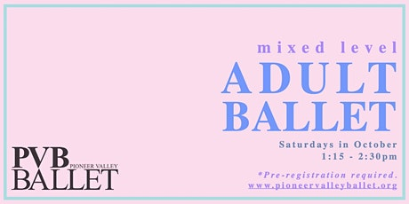 PVB Mixed Level Adult Ballet tickets