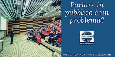 Public Speaking con metodo Toastmasters a Genova. biglietti