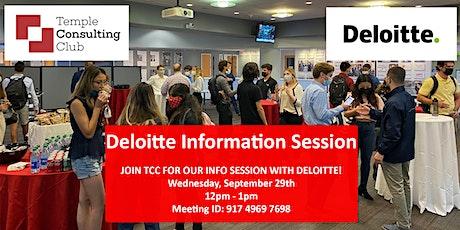 Deloitte Information Session tickets