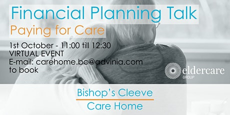 Care Home Fee Financial Planning Talk with Eldercare tickets