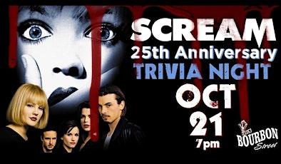 SCREAM 25th Anniversary Trivia Night tickets