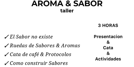 Taller De Cata De Café: Ruedas De Sabores entradas