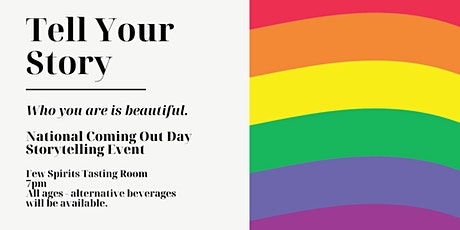 Evanston Pride National Coming Out Day Storytelling Event tickets