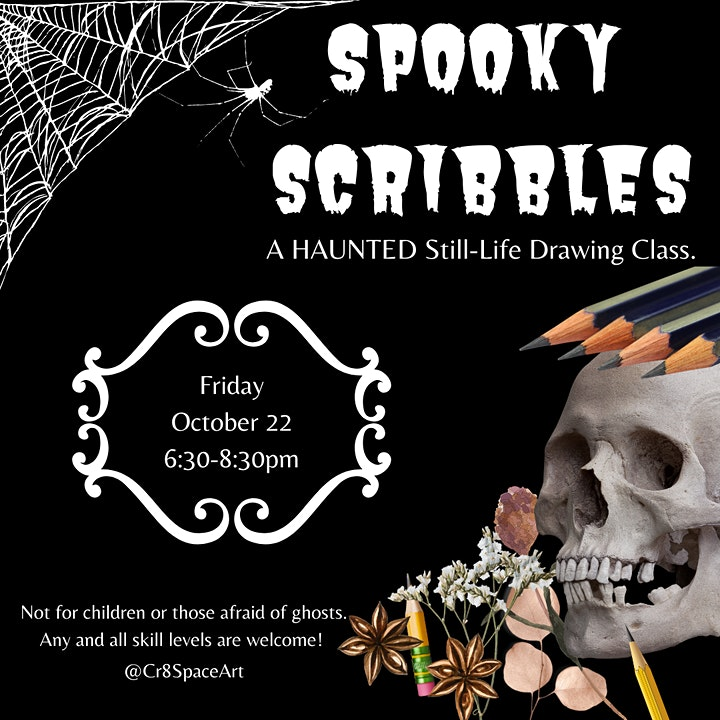 Spooky Still Life Drawing Class: Sip and Draw 21+ Event image