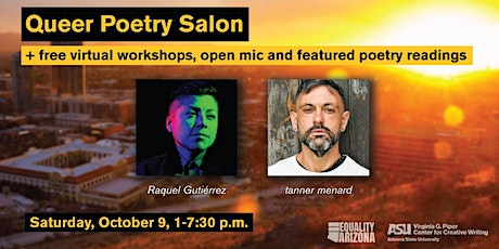 Queer Poetry Salon; workshops, open mic, and poetry feature tickets