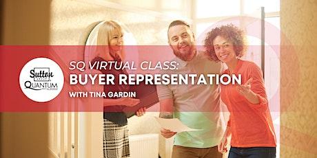 Buyer Representation with Tina Gardin tickets