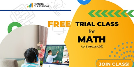 FREE TRIAL CLASS FOR MATH tickets