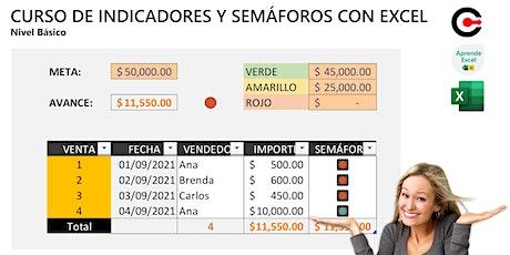 Curso de Indicadores y Semáforos en Excel (Sábado) ingressos