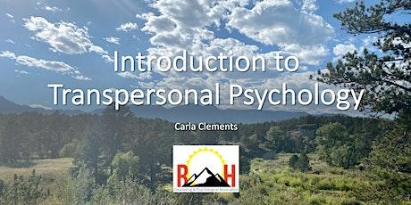 Introduction to Transpersonal Psychology billets