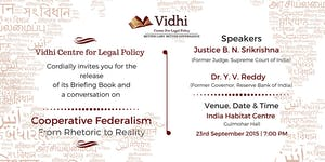 A Conversation on Cooperative Federalism with Dr Y V...