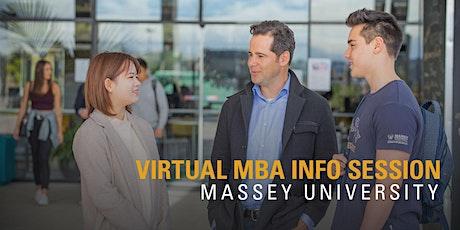 Massey University MBA Information Evening tickets