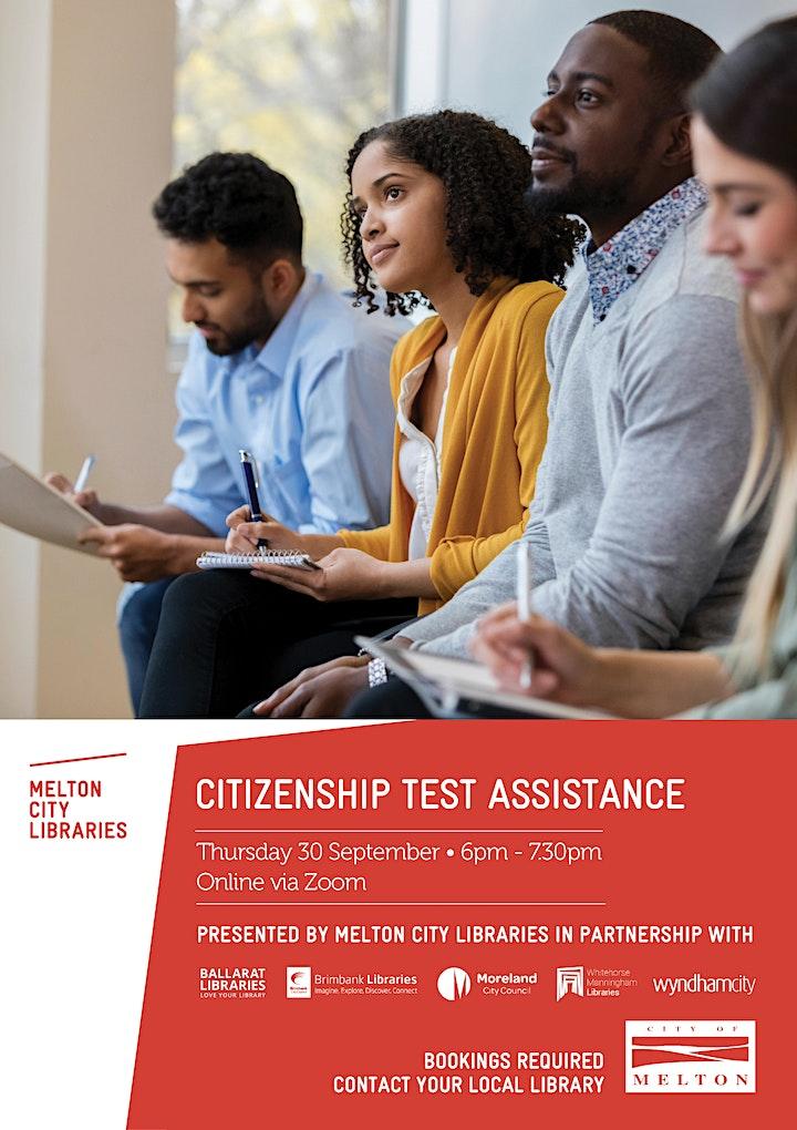 Australian Citizenship Test - Information session (online) image