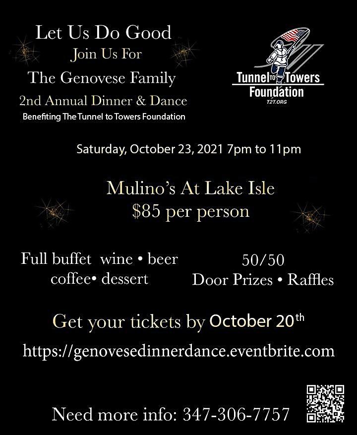 The Genovese Family 2nd Annual Dinner & Dance - Let Us Do Good image