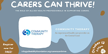 Community Therapy - Allied Health Professionals in Supporting Carers tickets