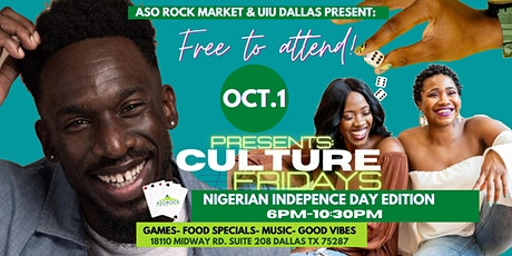 """Aso Rock Market  Presents  """" Nigerian Independence Game Night"""" tickets"""