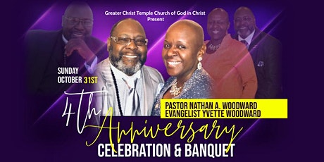 Pastor Woodward's 4th Anniversary Banquet tickets