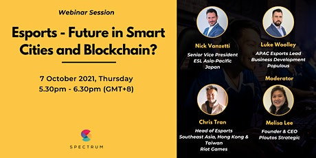 Esports - Future in Smart Cities and Blockchain? tickets