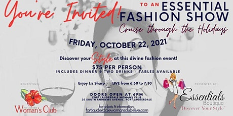 Cruise through the Holidays Essentials Fashion Show and Dinner tickets