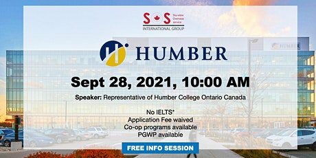 Study in Humber College located in Ontario Canada tickets