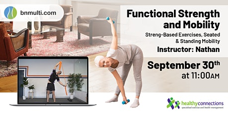 Functional Strength & Mobility - Free Online Exercise Class tickets