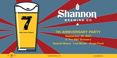 Shannon Brewery 7th Anniversary Party tickets