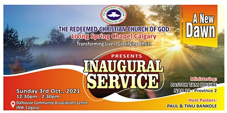 Inauguration Service - The RCCG  Living Spring Chapel tickets