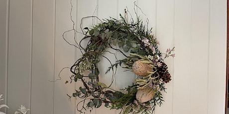 Native flower Christmas wreath workshop tickets