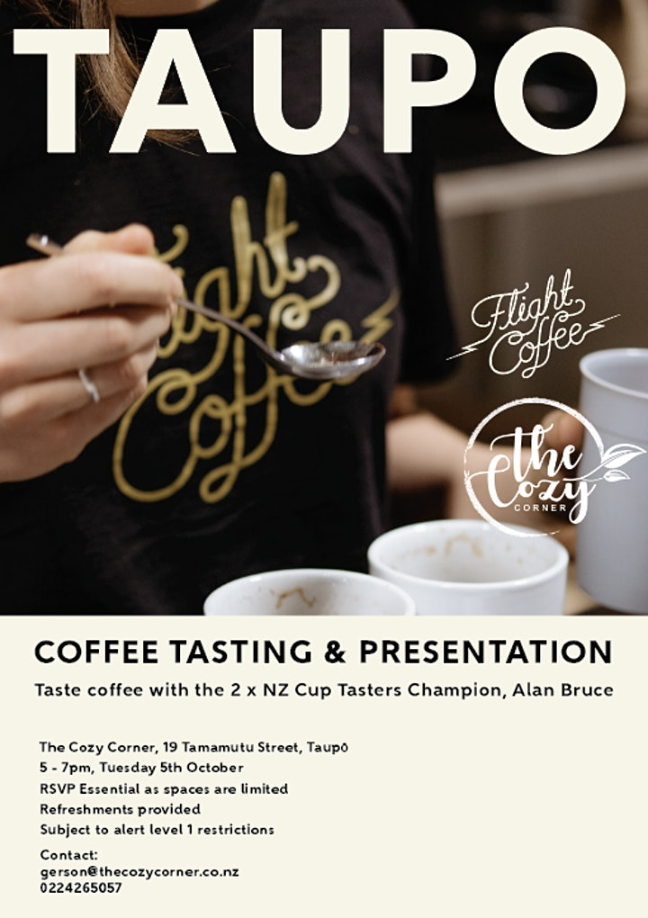 Coffee Tasting in Taupo image