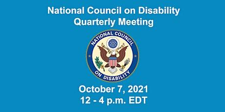 NCD Quarterly Meeting Oct. 7, 2021 tickets
