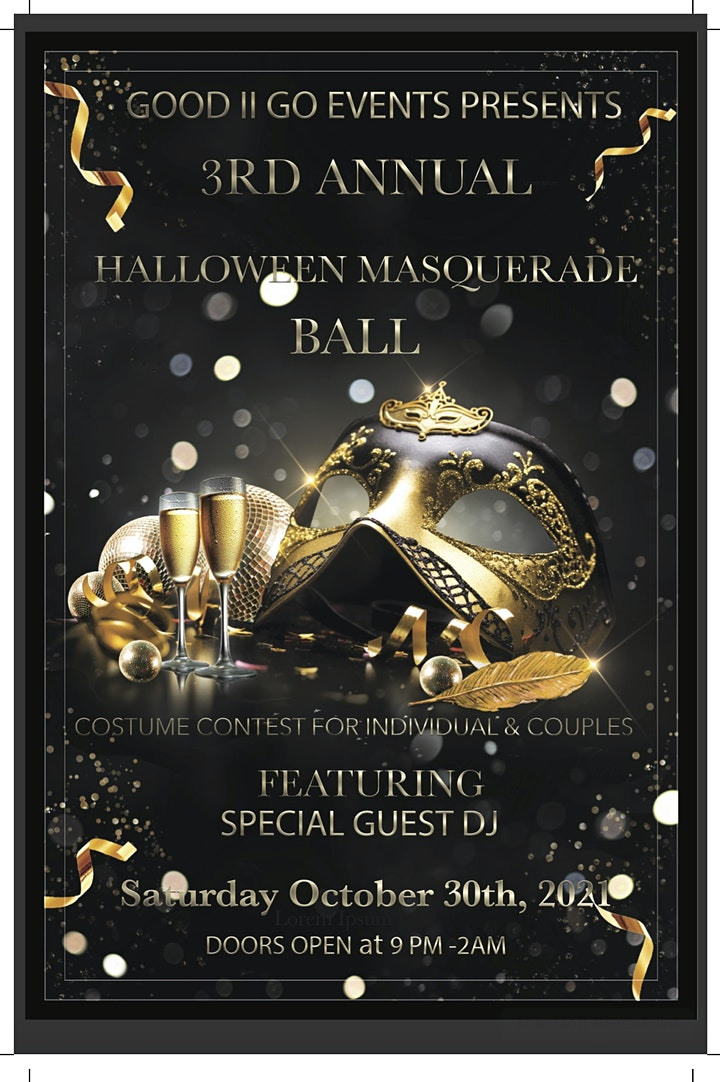 GOOD TO GO 3RD ANNUAL MASQUERADE AND COSTUME BALL image