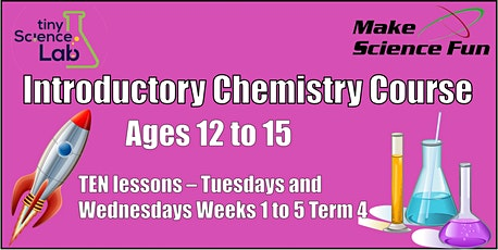 Online Introductory Chemistry Course  – Ten 1 hour lessons tickets