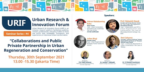 Urban Research and Innovation Forum 2021 Seminar Series #4 tickets
