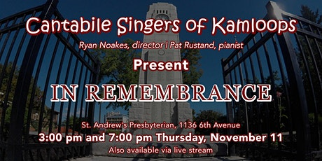 In Remembrance – IN PERSON tickets