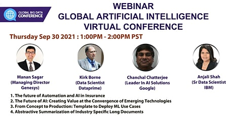 Global Artificial Intelligence Virtual Conference- Webinar  (Free) tickets
