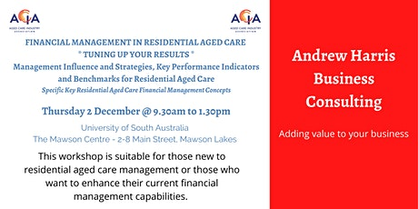 Financial Management in Residential Aged Care  - Tuning up your Results tickets