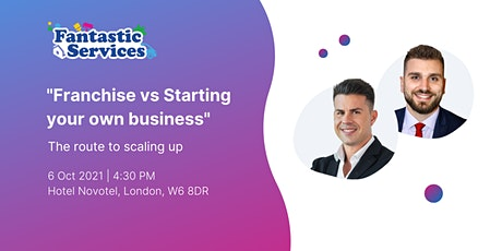 Franchise vs Starting your own business tickets