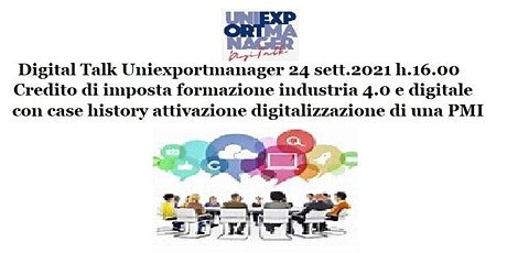 Credito di imposta formazione industria 4.0 e digitale con Case History biglietti